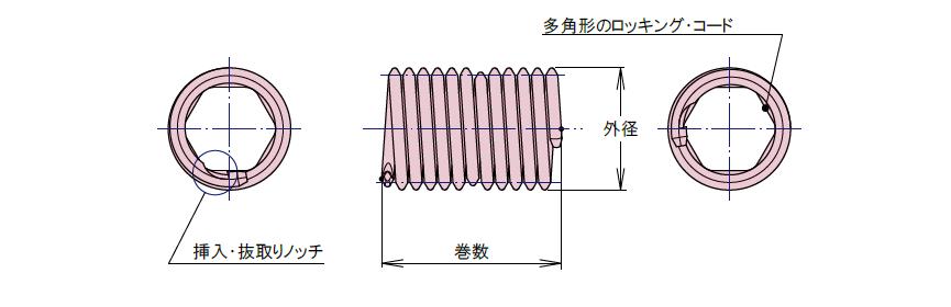タングレスインサート ロッキングタイプ 仕様図