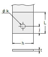 定荷重ばねCR型 副板1タイプ図
