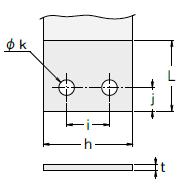 定荷重ばねCR型 副板2タイプ図