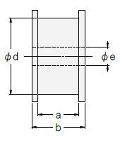 定荷重ばねCR型 ドラムSタイプ図